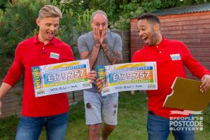 Lucky winner Mark can't believe his eyes as Jeff and Danyl reveal two whopping £179,757 cheques!