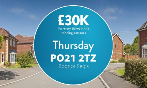 Today's £30,000 Street Prize has brought a big smile to one lucky Bognor Regis player