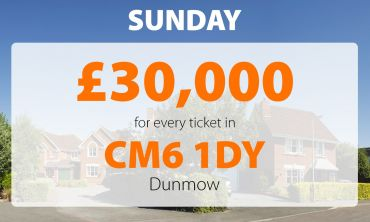 Two lucky Dunmow players have won £30,000 each thanks to their postcode