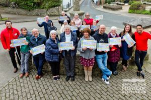 There were smiles all around as the West Devon neighbours shared £3 Million