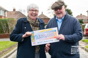 Mike and Sheila are looking forward to booking a holiday with their winnings