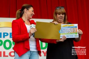 Julie has been playing for three years, and said she was stunned by her winning amount
