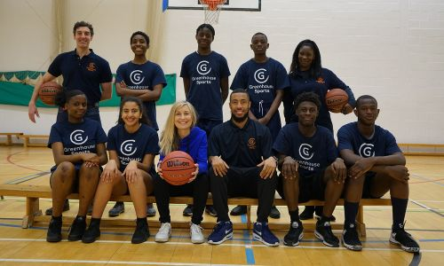 Fiona Phillips at Harris Academy in Peckham during a basketball session with Greenhouse Sports