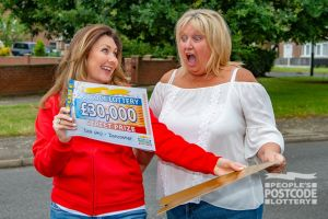 Ann thought she might pass out in shock when Judie McCourt revealed her £30,000 cheque