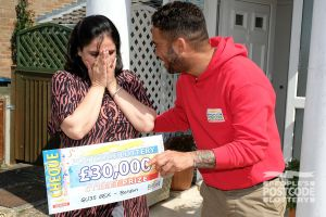 Sonia thought she was dreaming when she pulled her cheque out of its golden envelope