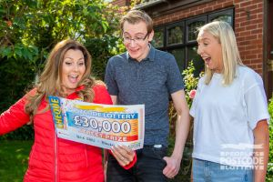 Daniel couldn't believe his eyes when Judie revealed his fantastic £30,000 Street Prize