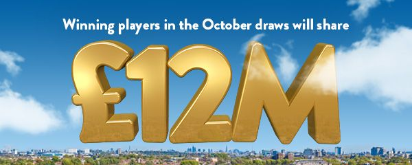 Winning players in the October draws will share £12 Million (Prizes, Mobile)