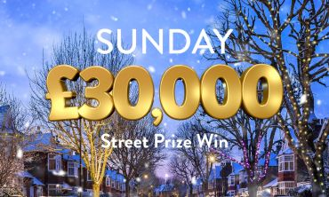 Every ticket in a lucky postcode wins £30,000 in Sunday's Street Prize