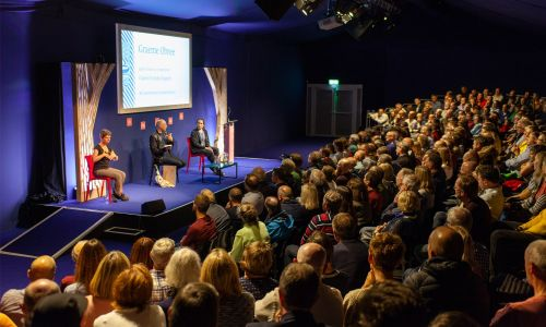 An event taking place at the Spark Theatre on George Street as part of the Edinburgh International Book Festival
