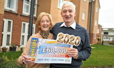 One of our lucky South Shields winners James with his wife Norma