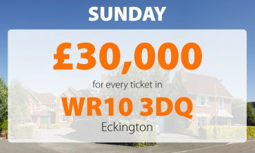 Today's £30,000 Street Prize landed in postcode WR10 3DQ in Eckington