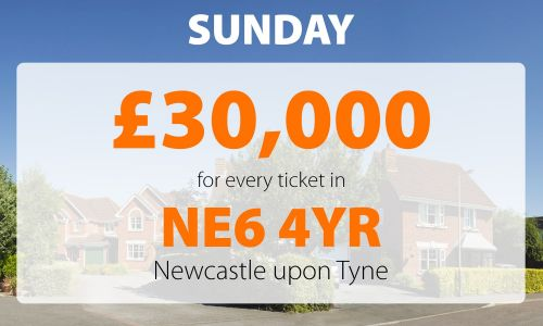 One People's Postcode Lottery player in Newcastle upon Tyne is £30,000 better off thanks to their lucky postcode