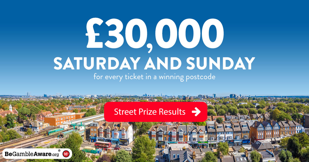 30,000 Street Prizes | People's Postcode Lottery