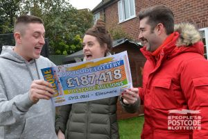 Chris, with partner Hayley, plans on spoiling their children with his winnings