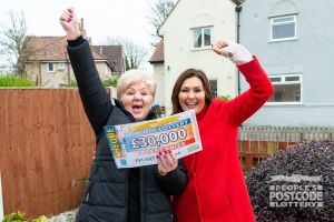 Sandra celebrating her Street Prize win with Judie