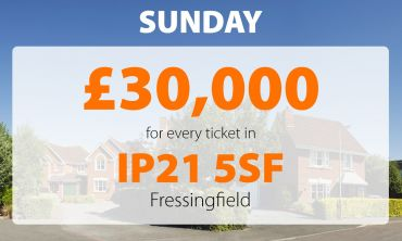 A lucky winner in Fressingfield is celebrating after scooping today's £30,000 Street Prize