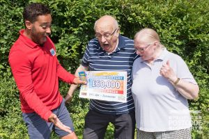 Winner Heather and her husband Peter were both gobsmacked when Danyl revealed their £60,000 cheque