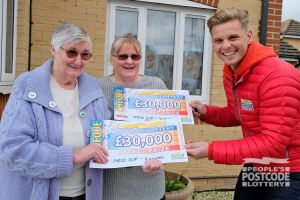 Winners Ann and Maureen were all smiles. They'd both just picked up a £30,000 cheque each!