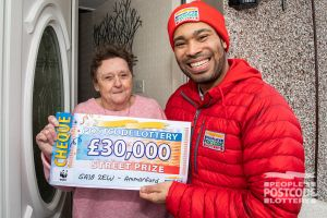 Neighbour Gwyneth also won a £30,000 cheque and couldn't stop shaking!