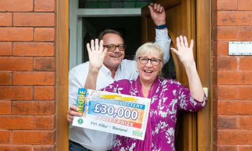 Steven and partner Dianne, one of our eight lucky Blackpool Street Prize winners