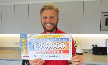 Jeff has a staggering £90,000 cheque for one winner in today's Street Prize