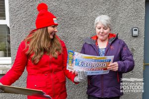 Katherine was ecstatic when Judie revealed her £30,000 cheque