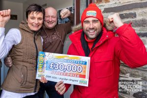 The lovely couple plan to do up their house with their winnings
