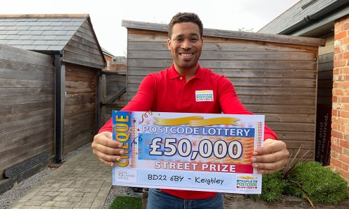 Danyl reveals a fantastic £50,000 prize for one lucky player in BD22 6BY