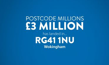 This month's Postcode Millions prize has landed in a Wokingham postcode sector