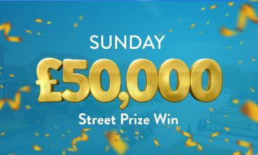 Every ticket in a lucky postcode wins £50,000 in today's Street Prize
