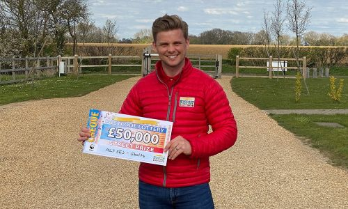 Street Prize Presenter Jeff Brazier reveals the winning postcode for our £50,000 Street Prize