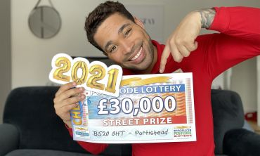Danyl has a fantastic £30,000 Street Prize for each of our five lucky winners in Portishead